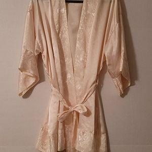 Victoria's Secret Gold Label Vintage Robe Cream